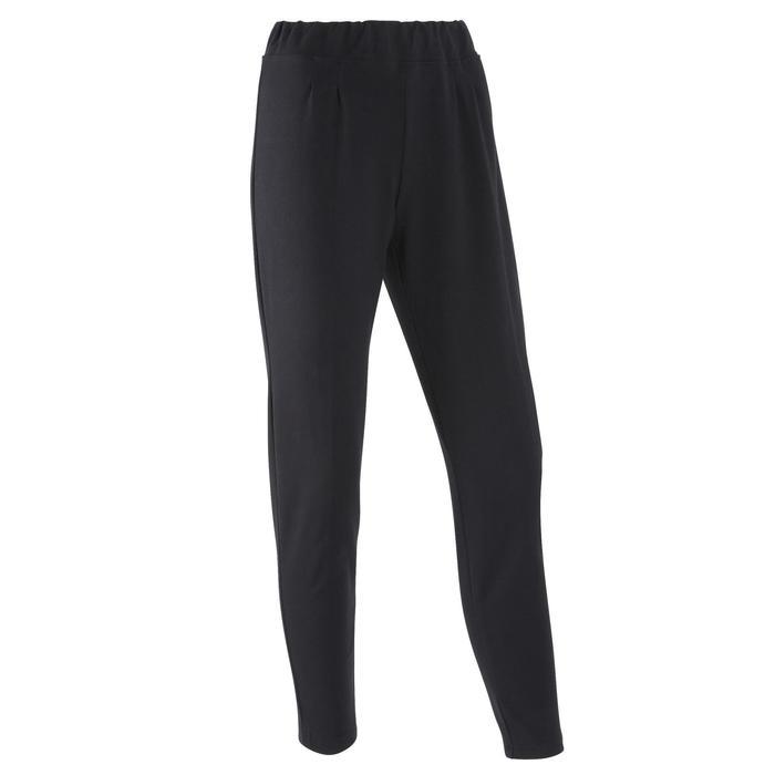 女款慢跑長褲100 - 黑色
