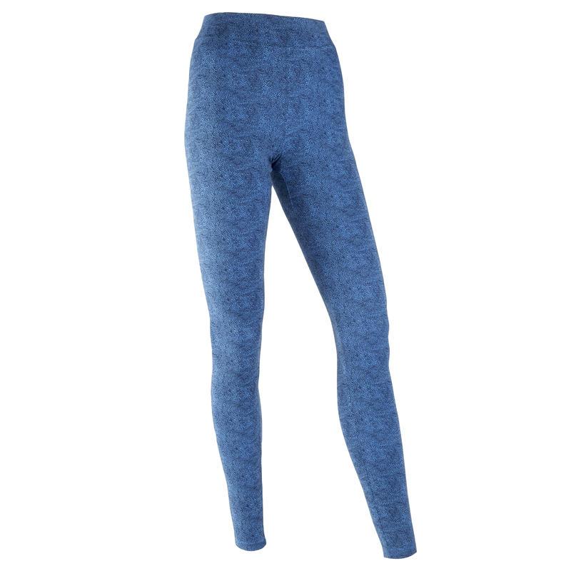 Fitness Cotton Leggings Fit+ - Blue Print