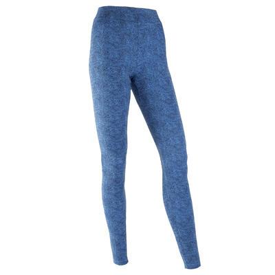 Legging Coton Fitness Fit+ Bleu avec Imprimé