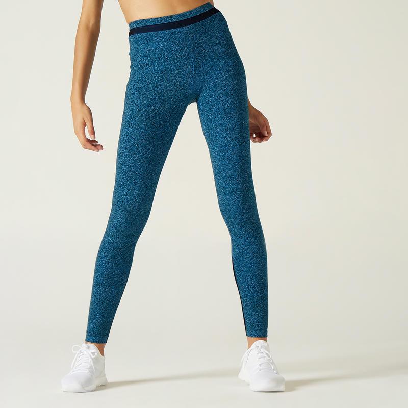 Legging de Sport 520 Femme Bleu avec Motif