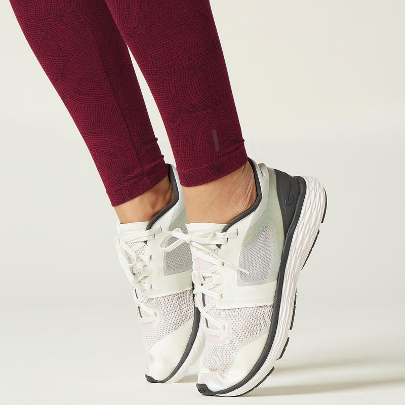 Fitness Cotton Leggings Fit+ - Burgundy Print