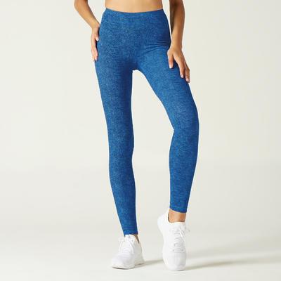 Legging Fit+ 500 Femme Bleu avec Motif