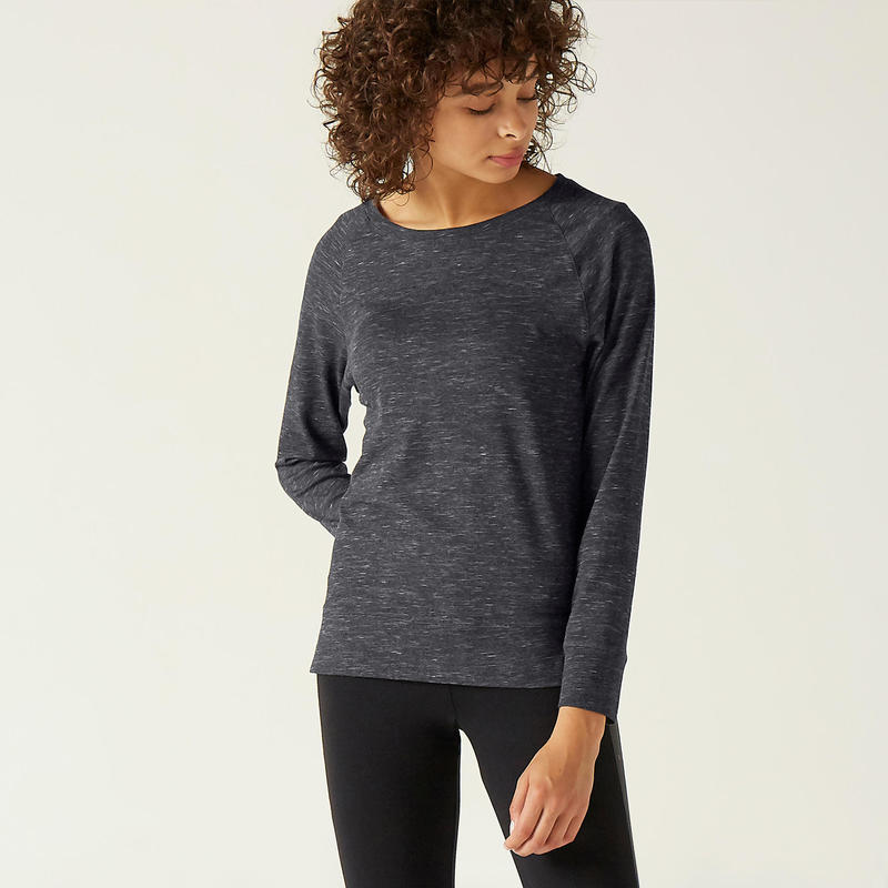 T-Shirt Manches Longues Coton Extensible Fitness