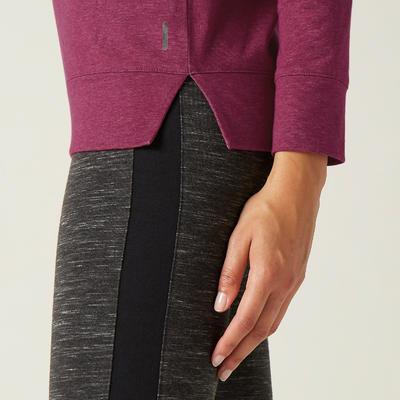 Women's Long-Sleeved T-Shirt 500 - Purple