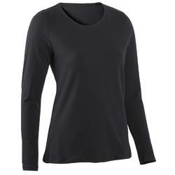 女款長袖T恤100 - 黑色