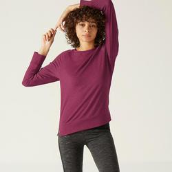 Shirt met lange mouwen voor dames 500 paars