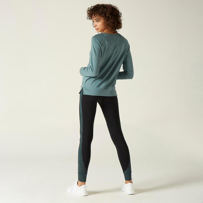 Shirt met lange mouwen voor dames 500 groen met print