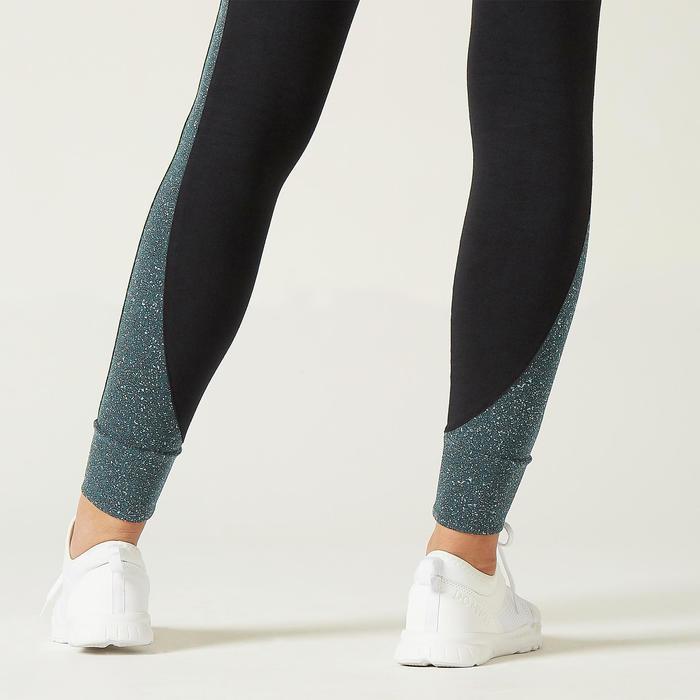 Legging de Sport 510 Femme Noir avec Motif