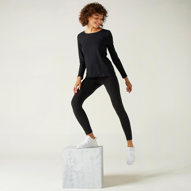 100 Long-Sleeved Gym T-Shirt – Women