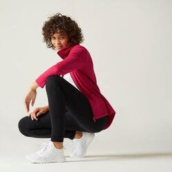 Sweat Zippé col haut Fitness Rose