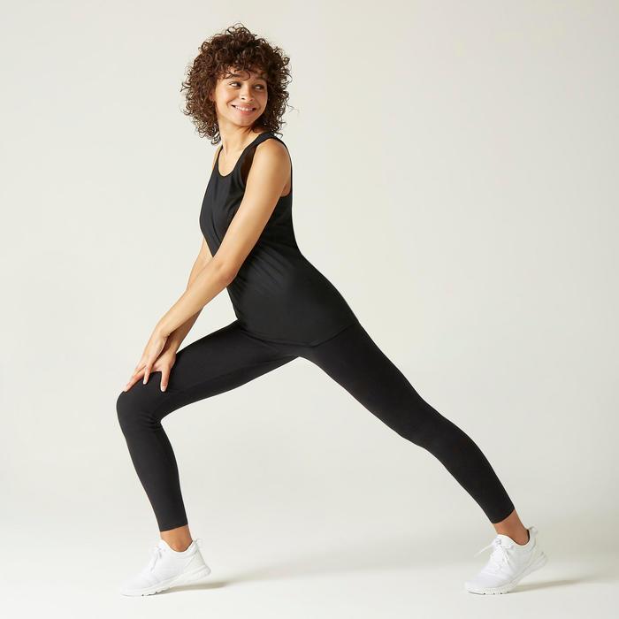 Camisola de Alças de Cardio-training 100% Algodão Preto