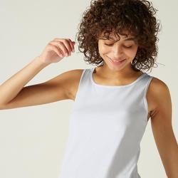 Débardeur Regular 100 Femme Blanc