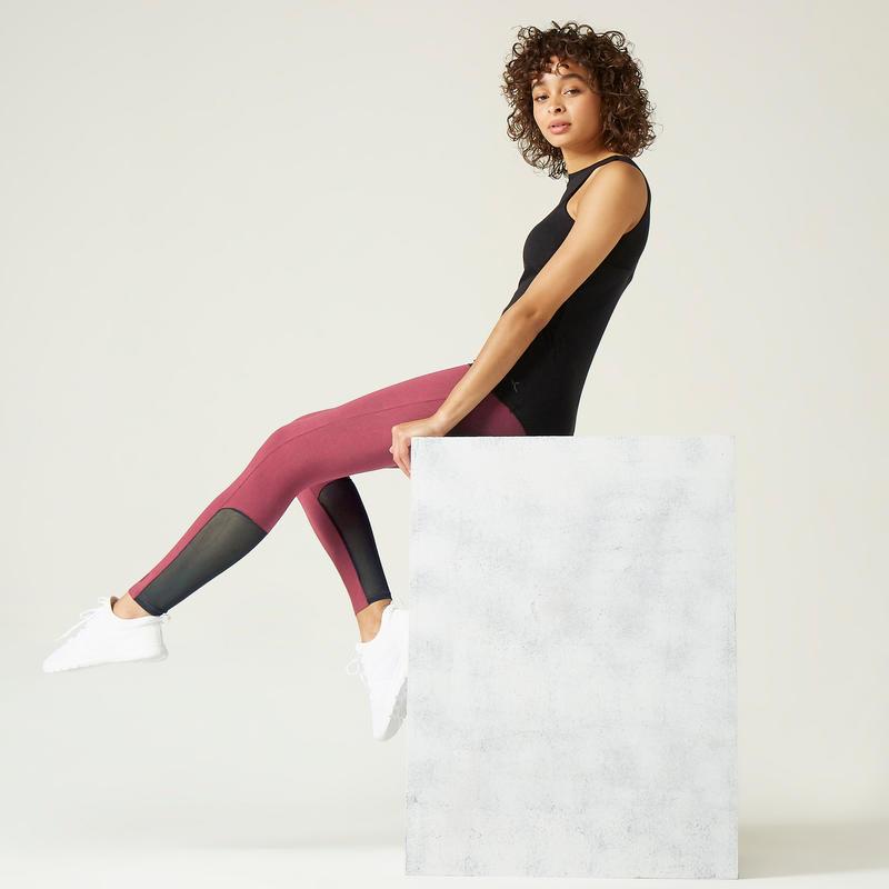 Legging de Sport 520 Femme Rose Foncé