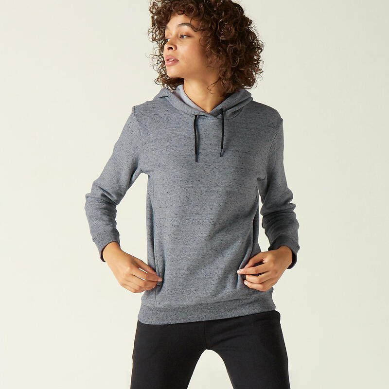 Fitness Hoodie with Kangaroo Pouch - Grey