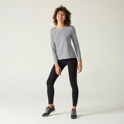 女款長袖T恤100 - 雜灰色