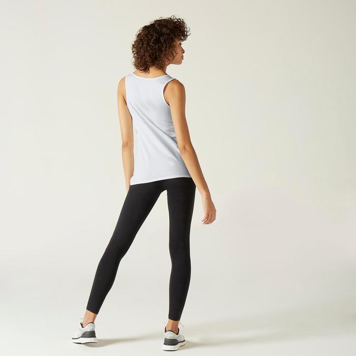 Camisola de Alças de Cardio-training 100% Algodão Branco