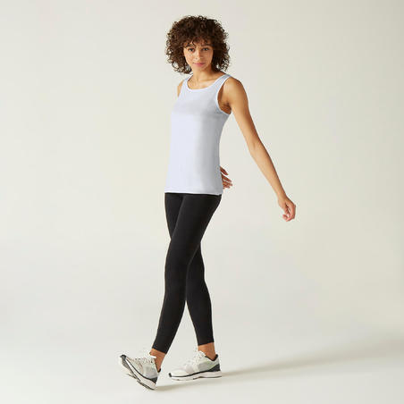 100% Cotton Fitness Tank Top - White