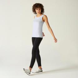 Débardeur 100% Coton Fitness Blanc