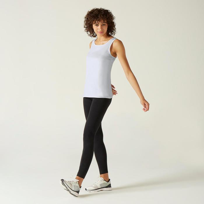 Top aus 100 % Baumwolle Fitness weiss