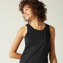 Top Fitness 100% Baumwolle Damen schwarz