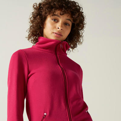 Veste zippée 500 Femme Rose
