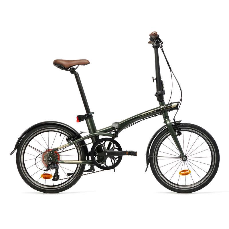 KOMPAKT/HOPFÄLLBAR CYKEL Cykelsport - Cykel hopfällbar TILT 900 kaki BTWIN - Cyklar