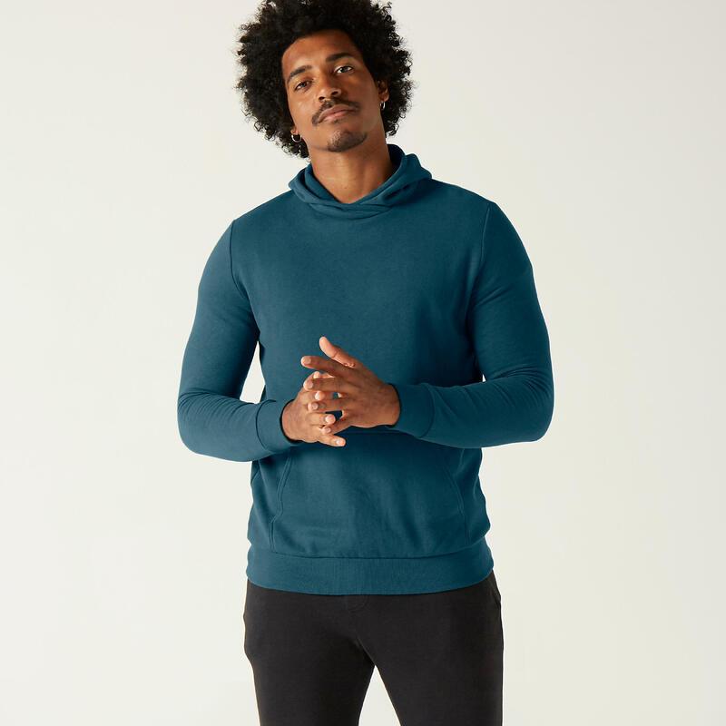 Fitness Hoodie with Kangaroo Pocket - Turquoise