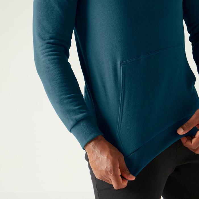 Sweat à Capuche 100 Homme Turquoise