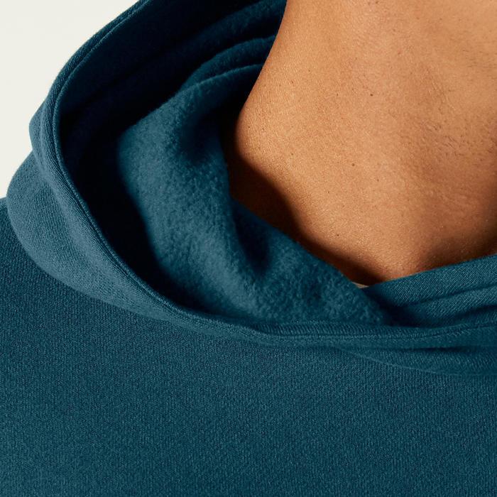 Hoodie voor heren 100 turquoise