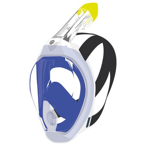 Masque intégral de snorkeling - Easybreath 500 Freetalk Bleu