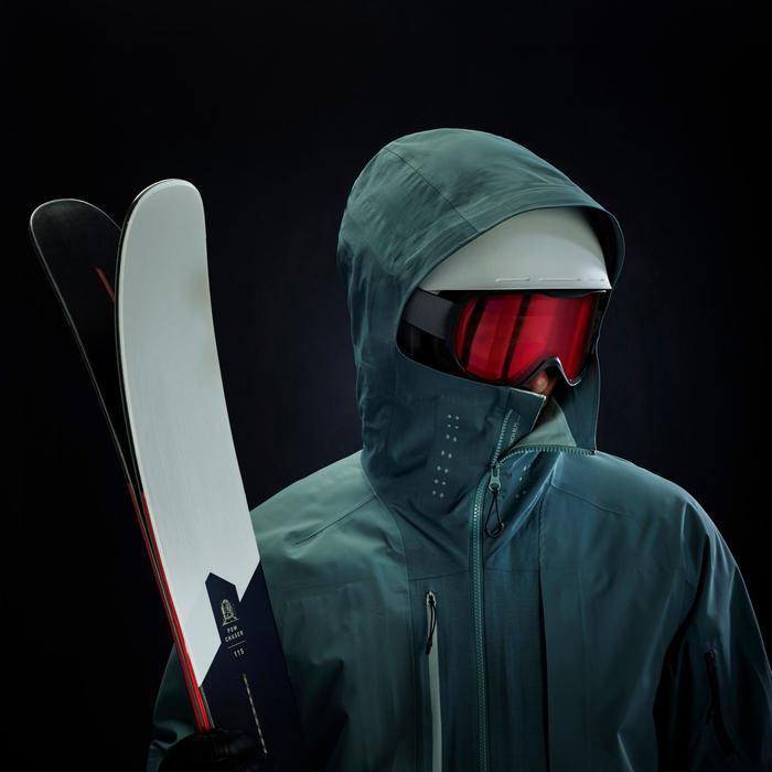 Skijacke Daunenjacke Freeride 900 Herren grau/anthrazit