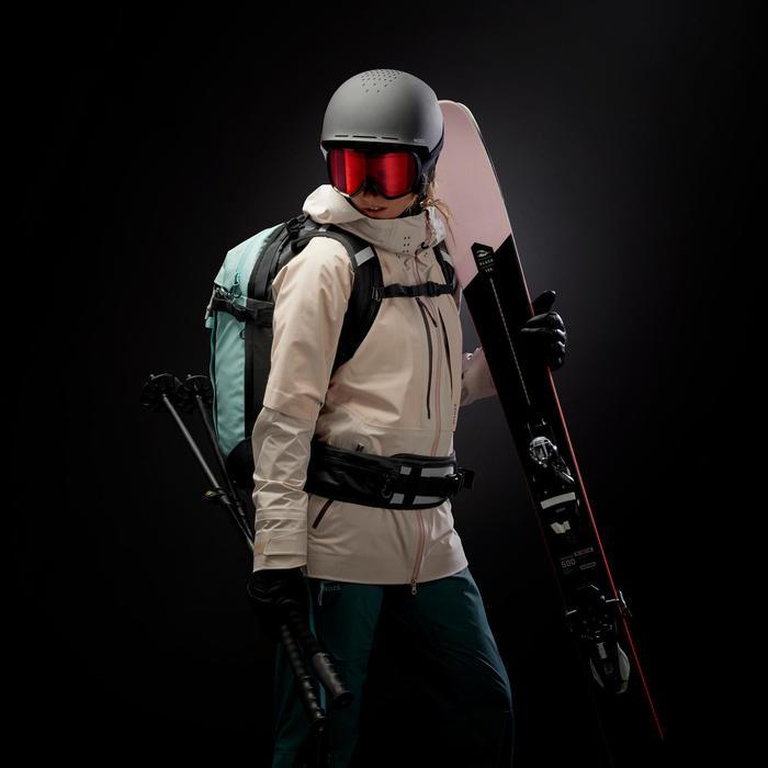 Midlayer ski-jas voor freeride dames FR900 Light wit/grijs