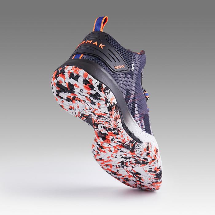 男款中筒籃球鞋SC500M-灰藍橘配色