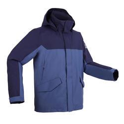 男款保暖航海外套300-藍色