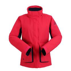 女款保暖航海外套300-粉紅色/藍色