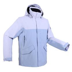 男款保暖航海外套300-灰色/藍色