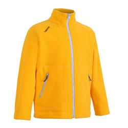 兒童款航海刷毛外套100-黃色