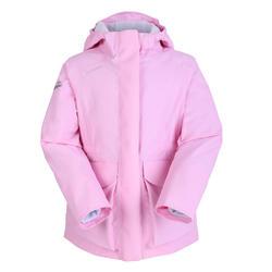 女童款保暖航海外套100-粉紅色