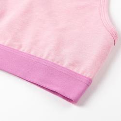 女童健身運動內衣100 - 紫色