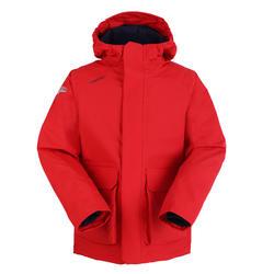 男童款保暖航海外套100-紅色