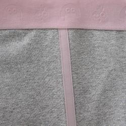 Warme legging voor peuter- en kleutergym 120 grijs/roze