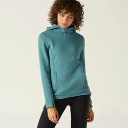 Sweater met capuchon 520 voor dames groen