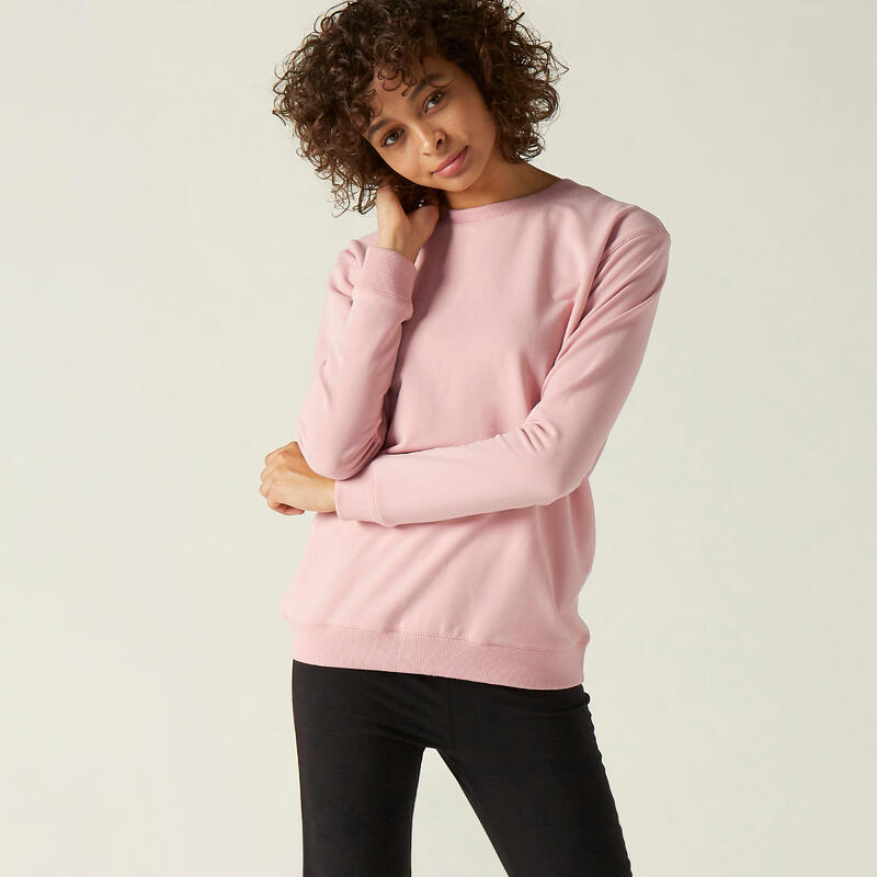 Crew Neck Fitness Sweatshirt - Pink