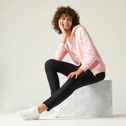 Warme hoodie met rits voor fitness roze