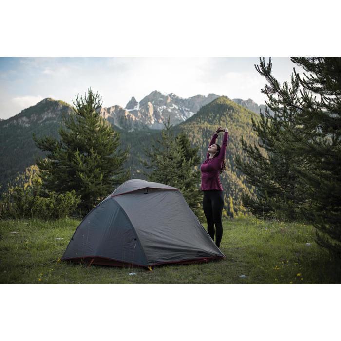 Collant sous-vêtement mérinos de trek montagne - TREK 500 noir - Femme