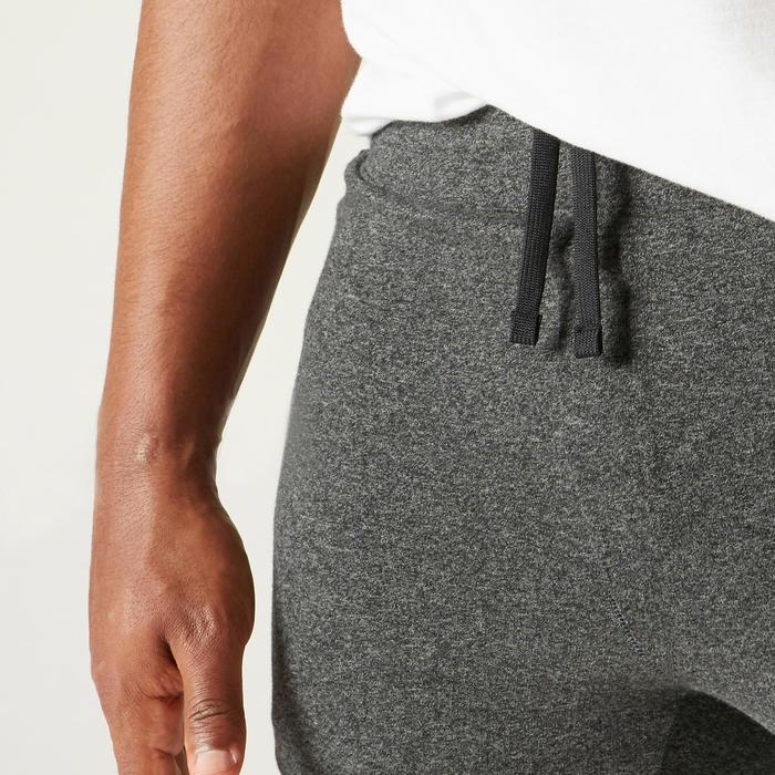 Pantalon jogging Fitness Slim Poches Zippées Gris Foncé