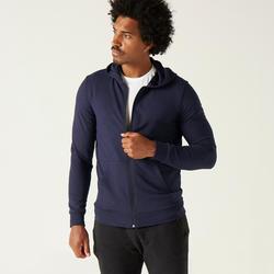 Vest met capuchon 100 voor heren donkerblauw