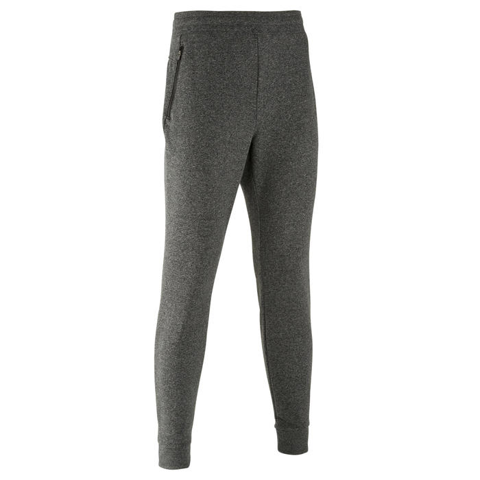 Pantalon de Jogging Slim 500 Homme Gris Foncé