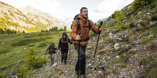 Trekking in the Italian mountains