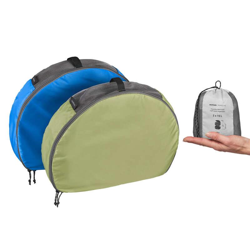Accesorii voiaj Drumetie, Trekking - Set 2 huse de depozitare 15L FORCLAZ - Echipament pentru dormit